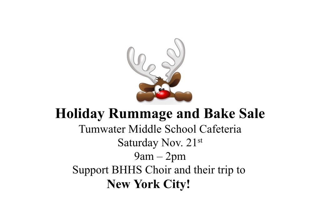Holiday Rummage and Bake Sale